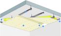 Plafond Placostil® sur montants - Plancher béton / poutrelles hourdis béton / Planchers mixtes non collaborants - Placoplatre® BA13 - 2,5 m - REI30