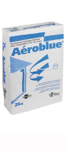 Aéroblue® sac 25kg | Revêtement technique à base de gypse qui permet de renforcer les performances d'étanchéité à l'air des bâtiments