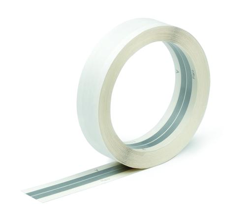 Bande armée 50 | Bande à joint papier, armée de deux feuillards métalliques flexibles pour réaliser le joint entre 2 plaques de plâtres Placo® au niveau d'un angle saillant