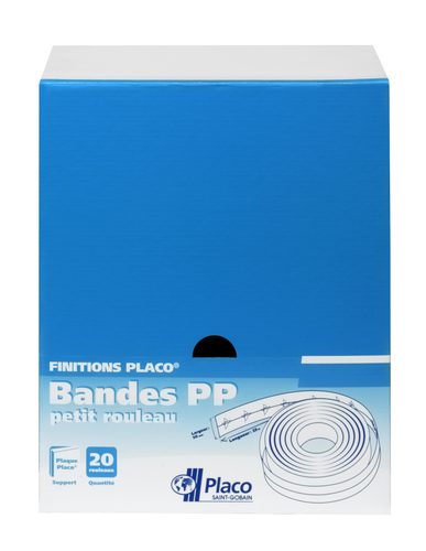 Bande PP petit Rouleau | Rouleau de bande papier pour jointoyer 2 plaques de plâtres Placo®