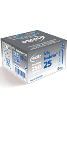 Vis Habito® 25 | Vis spéciale à double filetage et à tête large pour la fixation de plaques Habito® sur ossature Placostil®.