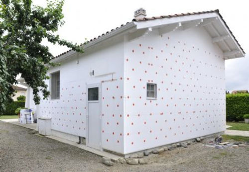 Cellomur® | mise en oeuvre Cellomur, vue exterieure de la maison individuelle