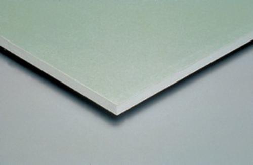 Gyproc® WR BA 13 | Plaque de plâtre hydrofugée à 2 bords amincis. Permet de réaliser tous types d'ouvrages nécessitant une haute résistance à l'humidité.