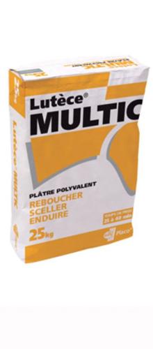 Lutèce® Multic 25kg | Plâtre polyvalent pour le rebouchage, le scellement, les petits raccords d'enduisage et les travaux divers pour tous corps de métier