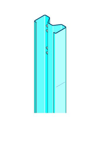 Montant Megastil® 170 | Montant Megastil profilé pour système de très grande hauteur megastil