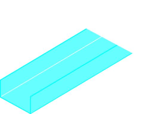 Profilé Rigide 50 | Profilé rigide 50/60 (accessoire pour cloison alvéolaire Placopan)