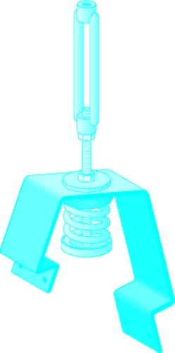 Suspente WinFix® dB 150 | Nouvelle Suspente antivibratile pour système Stil Prim (1 vue) - Winfix dB