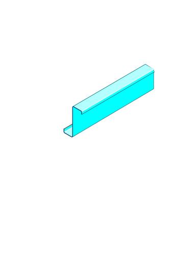 Panne Megastil® 180 | Panne megastil 180 profilé pour système de très grande hauteur megastil
