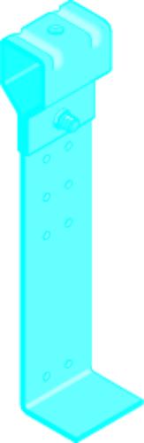Suspente Megastil® 20 20/30 | Suspente + équerre Mégastil (modifiée sept 2002) avec trous
