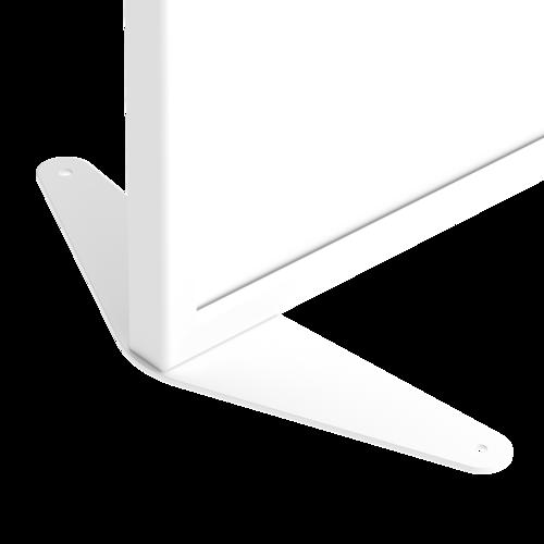 Placo® Modulo Vision - Blanc - Profilé Blanc - 1000x1600 mm | Piètement fixe blanc Placo Modulo