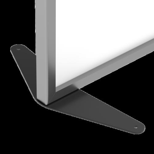 Placo® Modulo Vision - Blanc - Profilé Anodisé - 1000x1800 mm | Piètement fixe noir Placo Modulo