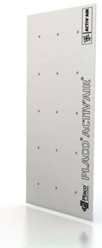 Placo® Activ'Air® BA 13 | Plaque de plâtre renforcée fibres de bois et à 2 bords amincis, très haute dureté, haute résistance aux chocs, acoustique et intégrant l'innovation Activ'Air®.