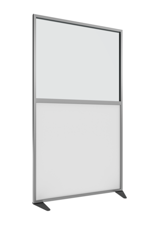 Placo® Modulo Vision - Blanc - Profilé Anodisé - 1000x1800 mm | Placo Modulo Vision blanche profilé anodisé 1000x1800