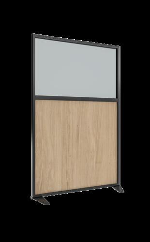 Placo® Modulo Vision - Bois - Profilé Noir - 1000x1600 mm | Placo Modulo Vision bois profilé noir 1000x1600
