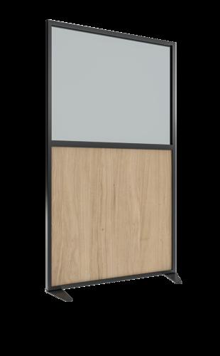 Placo® Modulo Vision - Bois - Profilé Noir - 1000x1800 mm | Placo Modulo Vision bois profilé noir 1000x1800