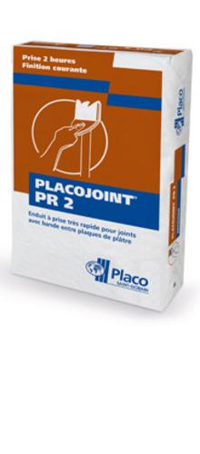 Placojoint® PR2 25kg | Enduit poudre à prise rapide (2 heures) pour le jointoiement avec bande des plaques de plâtre permettant un redoublement des joints dans les 3 heures, indépendamment des conditions climatiques.