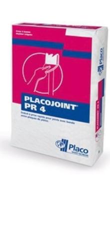 Placojoint® PR4 25kg | Enduit poudre à prise normale (3 heures) pour le jointoiement avec bande des plaques de plâtre permettant un redoublement des joints dans les 5 heures, indépendamment des conditions climatiques.