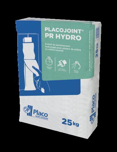 Placojoint® PR Hydro 25kg | Enduit poudre à prise rapide (1 heure) hydrofugé pour le jointoiement avec bande des plaques de plâtre en locaux humides, et permettant un redoublement des joints dans les 2 heures, indépendamment des conditions climatiques.