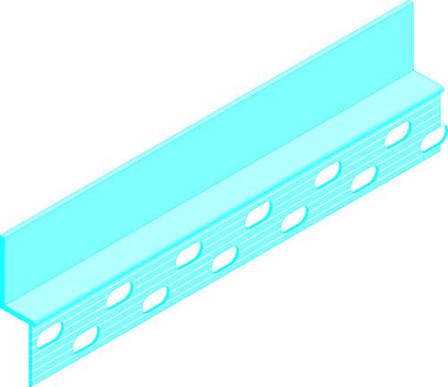 Placolistel® 106 | Les profilés Placolistel® sont en aluminium extrudé prépeints. Les ailes des profilés sont percées pour faciliter leur fixation par vissage sur les ouvrages Placostil®. On peut ainsi créer encadrements, surfaces discontinues, décaissés, motifs en relief, etc.