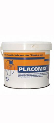 Placomix® 5kg | Enduit à séchage prêt à l'emploi permettant le traitement manuel ou mécanique des joints. Le redoublement des joints se fait après durcissement complet de l'enduit et dépend essentiellement des conditions climatiques (12 à 48 heures).