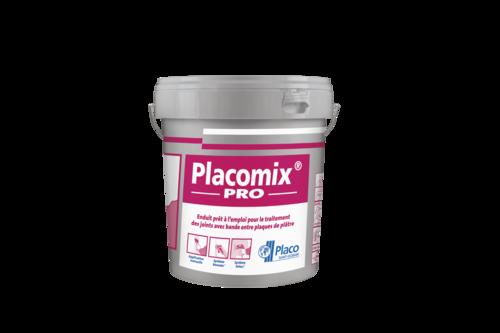 Placomix® PRO | Enduit à séchage prêt à l'emploi permettant le traitement manuel ou mécanique des joints. Le redoublement des joints se fait après durcissement complet de l'enduit et dépend essentiellement des conditions climatiques (12 à 48 heures).
