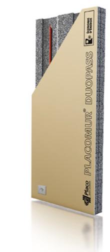 Placomur® DuoPass 3.05 - 120 | Nouveau système de doublage collé, composé de deux éléments : - une