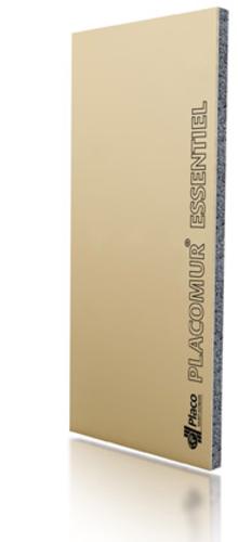 Placomur® Essentiel 0.55 10+20 | Complexe de doublage constitué d'un panneau isolant en polystyrène expansé (PSE) blanc, associé à une plaque de plâtre Placo®. Ancien libellé: Placomur® Th 38