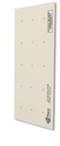 4PRO® Premium 13 | Plaque de plâtre blanche pré-imprimée à 4 bords amincis, spécialement destinée à la réalisation de surfaces parfaitement planes : plafonds non démontables, cloisons de grande hauteur...