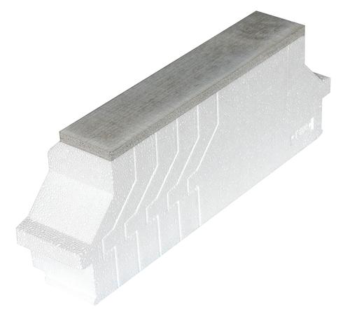 Rupsilon® PI T 570 PROTECT | Rupteur de ponts thermiques transversal en polystyrène expansé moulé, avec parement pour protection incendie