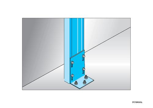 Sabot Megastil® 170 | Jonction sabot Mégastil au sol et/ou plafond sur béton