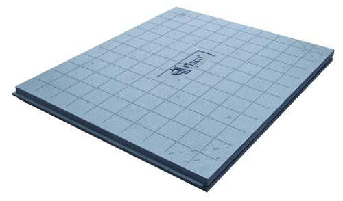 Solissimo® Chauffant 62 | Panneaux rainurés bouvetés 4 côtés et quadrillés au pas de 10 cm.