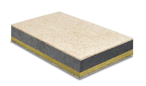 Stisolith® Ultra LR | Stisolith® Ultra LR. Panneau en polystyrène expansé graphité et laine de roche haute densité, revêtu d'un parement supérieur en laine de bois grise de 10 mm