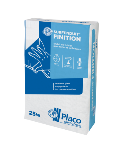 Surfenduit® Finition 25kg | Enduit pelliculaire Surfenduit Finition