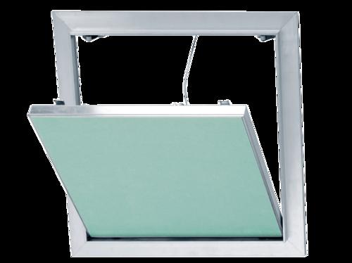 Trappe de visite alu/plaque 500 x 500 mm | trappe de visite alu accessoire pour plaque de plâtre permettant l'accès aux câbles électriques, conduits sanitaires ou installations techniques