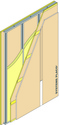 Cloison Placostil® 120/70 - 2xPlaco® X-Ray Protection + 2xPlacoplatre® BA 13 - EI 60 - 51dB - 4,50m