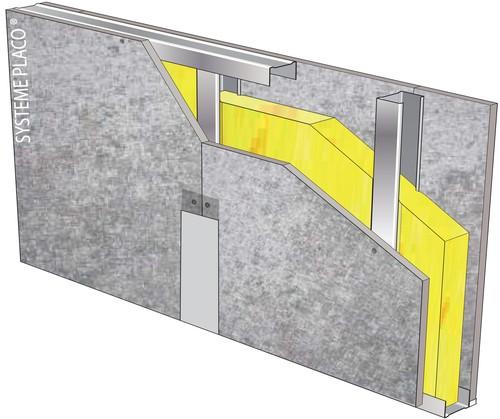 Cloison Aquaroc® 72/48 - EI 30 - 39dB - 2,5m