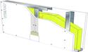 Cloison Placostil® 98/62 - 1 x Placoplatre® BA 18S THD Activ'Air® - EI60 - 47dB - 3,55m