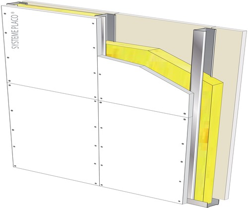 Cloison Highstil® 150/100 Placoplatre® BA25 - EI 120 - 50dB - 9,8m
