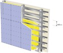 Cloison Megastil® 220/100 - EI 60 - 64dB - 6,85m