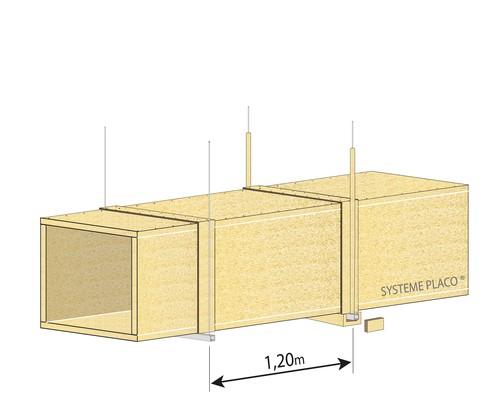 Conduits de ventilation horizontaux en panneaux Glasroc® FV500 - EI120 - joints alignés