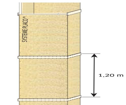 Conduits de ventilation verticaux en panneaux Glasroc® FV500 - EI120 - joints alignés
