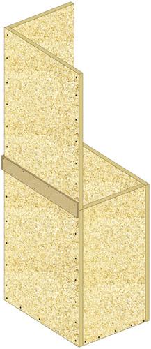 Conduits de désenfumage verticaux en panneaux Glasroc® FV500 - EI60 - joints alignés