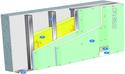 Doublage Placostil® sur montants - support béton 16cm - 2 x Placomarine® BA 13 - 2,45m