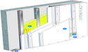 Doublage Placostil® sur montants - support béton 16cm - 3 x Placoplatre® BA13 Activ'Air® - 3,35m