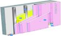 Doublage Placostil® sur montants - support béton 16cm - 3 x Placoflam® BA13 - 2,6m