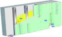 Doublage Placostil® sur montants - support béton 16cm - 3 x Placomarine® BA 13 - 3,1m