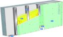 Doublage Placostil® sur montants - support béton 16cm - 1x Placoplatre® BA18S Marine - 2,45m