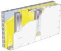 Doublage Placostil® sur montants - support parpaing creux 20 cm - 1x Placoplatre® BA13 - 3,1m