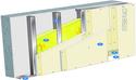 Doublage Placostil® sur montants - support béton 16cm - 2 x Placoplatre® BA13 - 2,45m