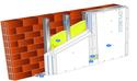 Doublage Placostil® sur montants - support brique isolante 20cm - 3 x Placoplatre® BA13 Activ'Air® - 3,1m